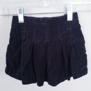 Oshkosh Black Velvet Skirt Girls Size 3T  Holiday